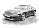 V8 Coupe Black & White