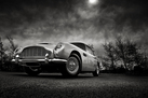 Aston Martin DB5- Black and White