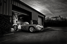Aston Martin DBR2 - Black and White