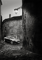 Aston Martin DB9 - Black and White (Signed, Limited Edition)