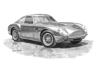 Aston Martin DB4GT Zagato Black & White