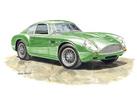 Aston Martin DB4GT Zagato Personalised Print