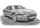 DB7 V12 Vantage Black & White
