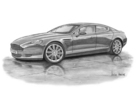 DB9 Rapide 4 Door Black & White