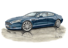 DB9 Rapide 4 Door Personalised Print