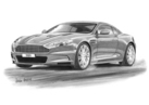 Aston Martin DBS 2006 Black & White