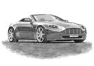 V8 Vantage Roadster 2005 Black & White