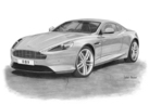 DB9 2013 Black & White Print