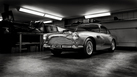 Aston Martin DB4 - Black and White